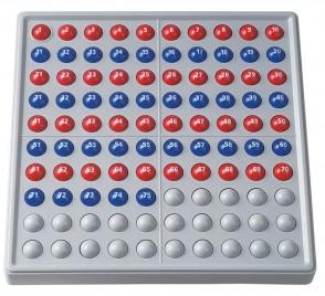 ABACO 100 rot / blau mit Zahlen