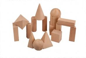 Geometriekörper aus Holz