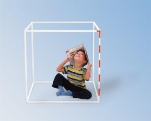 3D-Kubikmeter Aufbaumodell