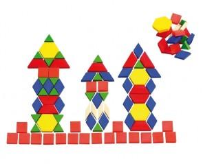 250 Pattern-Blocks aus Kunststoff