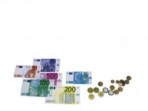 Euro-Kasse mit Magnet-Rechengeld in der Stapelbox
