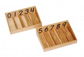 Stäbchen-Box mit 19 cm langen Stäbchen