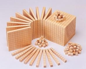 Zehnersystemteil Einerwürfel für Zehnersystemsatz  - aus RE-Wood ®