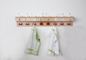 Waschraumleiste mit Ablage, Bilderleiste & 8 Haken