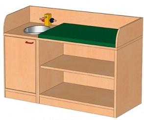 Puppen- und Spielmöbel - Bade-Wickelkombination
