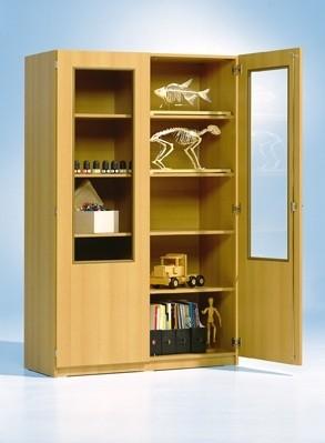 Schrank mit 2/3 verglasten Türen, hoch
