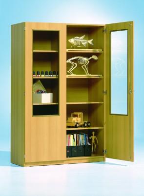 Hochschrank mit 2/3 verglasten Türen