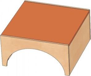 Podest Quadrat groß als Tunnel für Krippe-Spiellandschaft