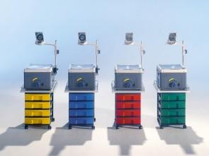 Fahrbarer Projektionstisch mit 4 Schubladen