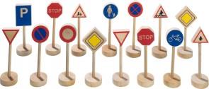 15 kleine Verkehrsschilder