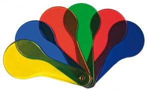 Farbfächer in 6 verschiedenen Farben