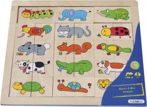 """Bilderpuzzle Match & Mix """"Animals"""""""