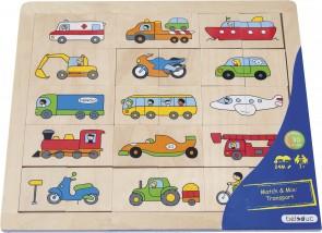 "Bilderpuzzle Match & Mix ""Transport"""