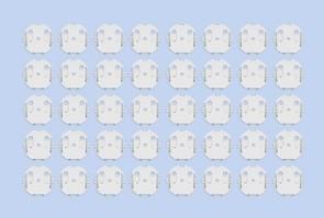 Steckdosenschutz in weiß, 20 Stück im Set