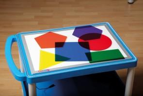 Set mit 6 großen, transparenten Acryl- Geometrieformen