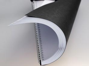 Rückwände Ledergenarbt schwarz DIN A4, 250g, 100 Blatt