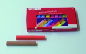 Schulkreide farbig sortiert, 12 Stück