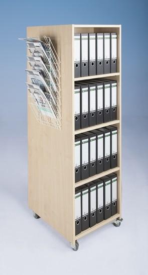Bücherturm, doppelseitig