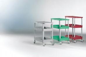 """Clever-Carts """"M"""", 1 Ablage und 2 Wannen"""