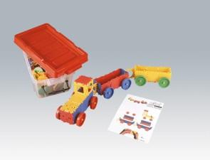 CLIXI Traktor mit 2 Anhängern