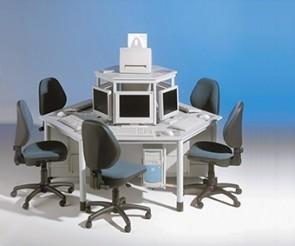 Computerinseln mit 6 Arbeitsplätzen