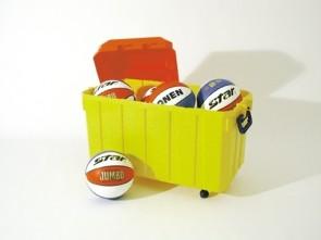 Basketball Jumbo Star Color im 8er Set mit Ballbox