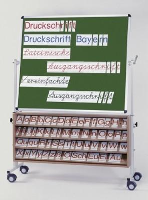 ABC Buchstabensatz Druckschrift