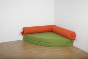 Ersatzbezug für Kuschelecke Doppel-Viertelkreis Leder