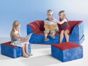 Kinder Klappcouch mit 2 Sesseln
