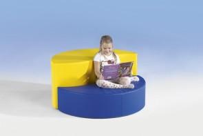 Wellensitzelement Swing-IT Sit! - halbrund, 30 cm Sitzhöhe, Kunstlederbezug