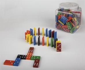 Sechser-Domino-Set im Kunststoffeimer - 168-teilig