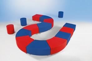 Wellness-Oase - Achtelkreiselelement Curved² mit Kunstlederbezug