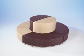 Wellness-Oase - Halbrundturm Curved² mit Kunstlederbezug