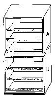 Unterbau-Regal, 120 cm breit