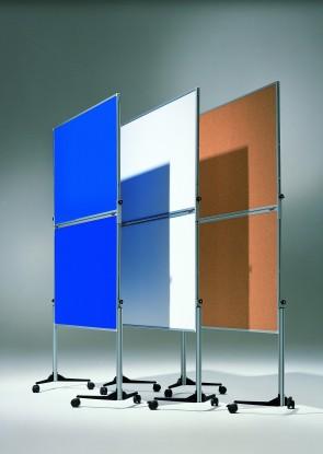 Klappbare Ausstellungswand 120 cm x 150 cm / Kartoniert, weiß