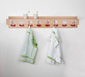 Waschraumleiste mit Ablage und Haken