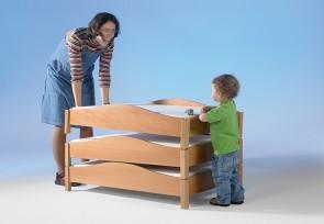 Stapelbettchen aus Holz