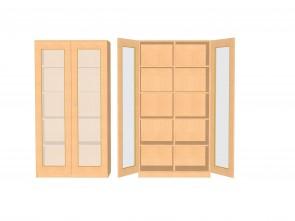 Schrank mit verglasten Türen, hoch