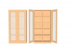 Hochschrank mit verglasten Türen