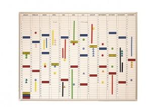 Jahreskalender, 120 x 90 cm