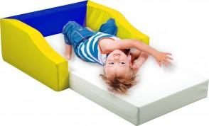 Stapelbares Kinderbettchen ohne seitliche Anlehnung