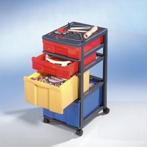 Instrumentengrundausstattung im InBox-Rollcontainer