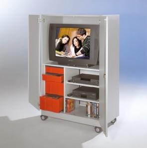 Mobiler TV-Schrank mit Schubladenelement und 2 Videozügen