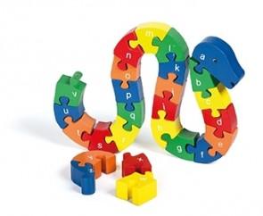 ABC-Holz-Puzzle-Schlange