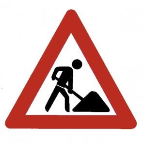 Verkehrsschild: Baustelle