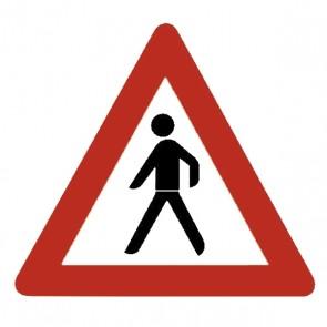 Verkehrsschild: Fußgänger