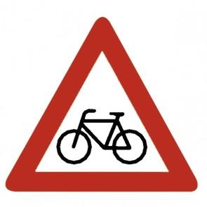 Verkehrsschild: Radfahrer kreuzen