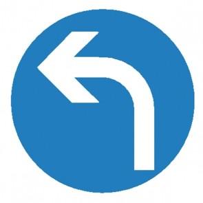 Verkehrsschild -  vorgeschriebene Fahrttichtung links