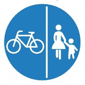 Verkehrsschild: Getrennter Fuß- & Radweg