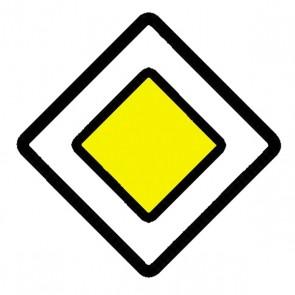 Verkehrsschild: Vorfahrtsstraße